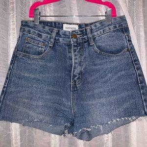 High Waisted Mom Denim Shorts